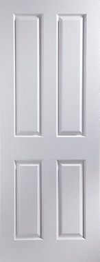 4 Panel Pre-painted White Woodgrain Unglazed Internal Sliding Door kit, - B&Q for all your home and garden supplies and advice on all the latest DIY trends Door Sets, Fire Doors, Internal Sliding Doors, Room Diy, White Paneling, Doors Interior, Door Kits, Diy Door, Sliding Doors
