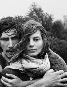 Adam Driver and Daria Werbowy for September Vogue 2013