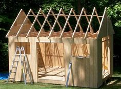 Diy Post And Beam Shed Plans Storage Building Plans, Storage Shed Plans, Building A Shed, Garden Storage Shed, Outdoor Storage Sheds, Outdoor Sheds, 10x10 Shed Plans, Free Shed Plans, Shed Kits