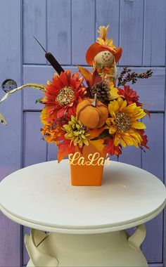 Check out this item in my Etsy shop https://www.etsy.com/listing/540285688/fall-table-arrangement-fall-table-decor