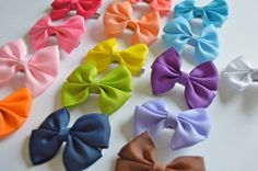 2 inch bow, mini bow, little bows, little girl bows, bow clips, small bows, infant clips by BowsforLittle on Etsy https://www.etsy.com/listing/244665032/2-inch-bow-mini-bow-little-bows-little