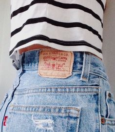 stripes + levi's - Miss me good old Levi shorts.