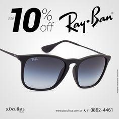 Óculos de Sol Ray Ban com até 10% de desconto Compre pelo site em até 10x Sem Juros e Frete Grátis nas compras acima de R$400,00 reais. Acesse: https://aoculista.com.br/ray-ban #rayban #glasses #sunglasses #eyeglasses #oculos