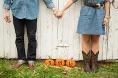 Fall engagement photo ideas- this would e a cute pregnancy announcement too!