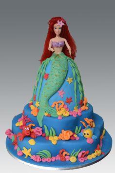 Ariel Doll Cake