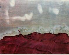 """Desert Landscape"" By Sidney Nolan Australian Painting, Australian Artists, Desert Landscape, Landscape Art, Jeffrey Smart, Sidney Nolan, Art Reference, Sydney, Artwork"