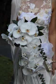 Beautiful white orchid bouquet