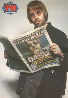 Liam Gallagher for the anniversary edition of 'Melody Maker ❤️ Gene Gallagher, Lennon Gallagher, Liam Gallagher Oasis, El Rock And Roll, Rock And Roll Bands, Liam Oasis, Oasis Album, Oasis Music, Oasis Band