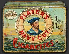 Tin: Player's Navy Cut Cigarettes