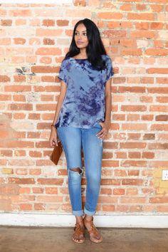 Ocean Waves, Western Wear, Tie Dye, Ruffle Blouse, Street Style, How To Wear, Collection, Tops, Women