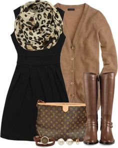 #newyearstylechallenge black and brown combination perfectly basic and to combine with animal printed scarf