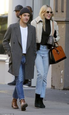 Stylish couple: Chloë Sevigny and Ricky Saiz looked ever the fashionable pairing as they stepped out for a spot of shopping in New York's Soho on Wednesday