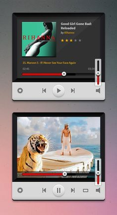 Friends, here are a couple of media players in PSD format. Mobile Project, User Interface, Music, Ui Elements, Design Elements, Ux Design, Creative Design, Ui Inspiration, Mobile Ui