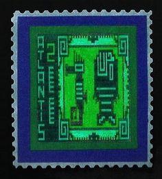 Art Blog/Eric Whollem Stamp Creator, Stamp Making, My Stamp, Hand Coloring, Atlantis, Art Blog, Postage Stamps, Cinderella, Sculpture