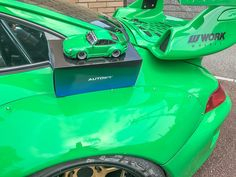 Liberty Walk, Racing Wheel, Porsche, Vehicles, Green, Model, Scale Model, Car