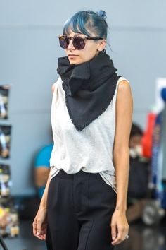 Nicole Richie at JFK airport in New York City, New York on July 6, 2014.