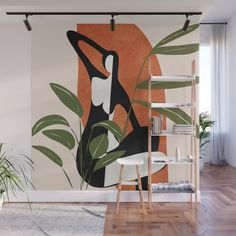 Abstract Female Figure 20 Wall Mural by City Art - X Room Interior, Interior Design Living Room, Diy Bedroom Decor, Wall Decor, Home Decor, Mural Wall Art, Home And Deco, Wall Design, Decoration