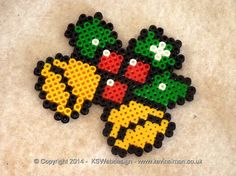 Christmas bells hama perler beads by Kevin Simon