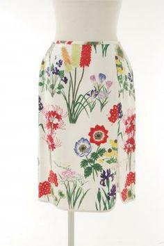 KEITA MARUYAMA - flower print skirt