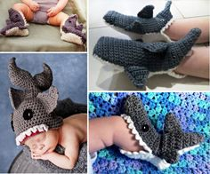 Crochet Shark Slippers Free Patterns - our post includes Free Crochet Hats, Shark Blankets plus Free Mermaid Crochet.