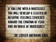 Narcissist effect us in many ways. Negative feelings are often present with a fear of inadequacy. Narcissist will wear you down until you feel emotionally and physically exhausted in every way possible. Questioning your own behaviors will often start to surface as the narc will turn things around and shift blame. The problem never lies with you as the narc is the problem ...