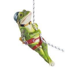 'Finley' The Rock Climbing Hanging Frog Garden Ornament - Modern Animal Garden Ornaments, Frog Ornaments, Lawn Ornaments, Frog Rock, Rock Climbing, Animal Design, Traditional Design, The Rock, Cool Designs