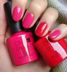 CND Pink Bikini and Wildfire