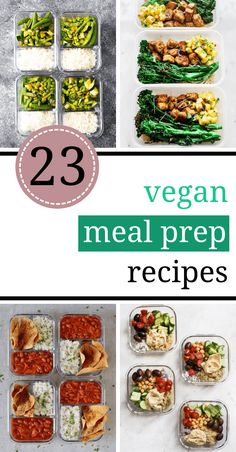 Easy & Quick Vegan Meal Prep Recipes that you can make for the whole week. They are healthy and delicious, yet you don't have to be in kitchen for hours, making them. Win win. Forget delivery and make these yummy meals instead!   the Green Loot #vegan #veganrecipes #healthyrecipes #healthyeating #mealprep Quick Vegan Meals, Vegan Meal Prep, Vegan Recipes, Prepping, Canning, Vegane Rezepte, Preserve, Vegetarian Recipes