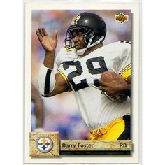 1992 PITTSBURGH STEELERS' BARRY FOSTER UPPER DECK NFL TRADING CARD #57. Buy it on eBid Canada | 154682796