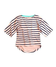 Take a look at this Pink Stripe Chelsea Organic Dolman Top - Toddler & Girls on zulily today!