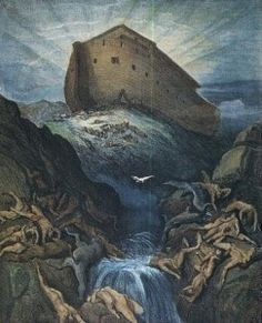 Image result for painting of the worldwide flood