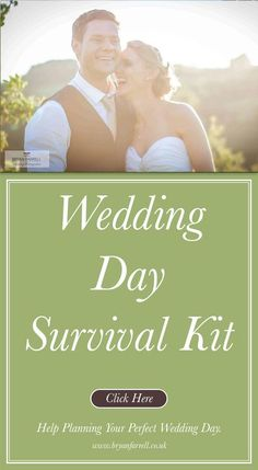 Wedding day survival kit Planning Your Wedding / By Bryan / wedding, Wedding day survival kit, wedding tips  There are always going to be little things you think you should have thought of during your wedding day, so to help we have put together our Wedding day survival kit.  Just a few items that have often come up and have had bridesmaids running around looking for.  If you think we've missed anything please add your comment and we will keep updating this list, I want this to be as… Wedding Advice, Our Wedding Day, Plan Your Wedding, Diy Wedding, Perfect Wedding, Wedding Blog, Wedding Stuff, Lace Wedding, Wedding Ideas