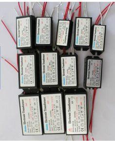 드롭 배송 20 와트 40 와트 50 와트 60 와트 80 와트 200 와트 전자 변압기 220 볼트 12 볼트 LED 할로겐 전구 램프 전원 공급 드라이버