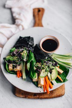 No-Rice Nori Rolls w/ Marinated Tofu & Veggies | tuulia blog