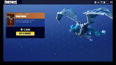 TheGreatWhiteCosmicBatNews: Fortnite Season 6 : Frostwing Dragon Glider: How To Get It & What It Looks Like