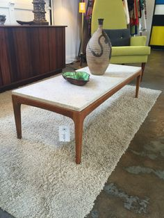 Lane Rhythm coffee table with marble too. More info? Email midmodcollective@gmail.com
