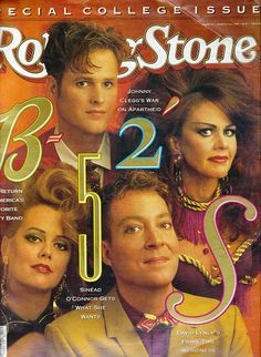 The B-52's Rolling Stone Magazine March 22 1990 -