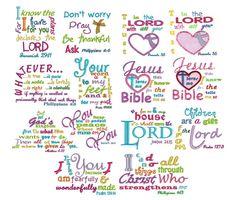 Bible Verses Machine Embroidery Designs | Designs by JuJu