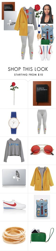 """Chillax📚"" by qveenxsharissa16 ❤ liked on Polyvore featuring Nearly Natural, adidas Originals, Vinyl Revolution, NIKE, Vans, Kenneth Jay Lane and Mark & Graham"