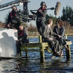 1a-101 ~ SASSENACH ~ BTS-Frank and Claire shown in the beginning credits