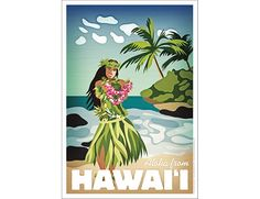 "Hawaiian Hula Girl ""Aloha from Hawaii"" Poster by VintagePosterDesign on Etsy https://www.etsy.com/listing/191651139/hawaiian-hula-girl-aloha-from-hawaii"