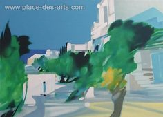 SIMILAR TO MY LARGE SIZED LITHOGRAPH WHICH IS FRAMED - ALRED DEFOSSEZ IS A FRENCH PAINTER  - Saint Paul de Vence, Lithograph, Signed and numbered in pencil, by the painter, Alfred, DEFOSSEZSaint Paul de Vence Lithograph Signed and numbered in pencil Paper size : 22 x 30 in (56 x 76 cm)Image size : 18 x 25 in (46 x 63 cm)Issue : 300 copiesYear :Price : € 250- $ 345- £ 213- CHF 308- JPY 33500Ref. 10992 # 150