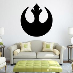 Star Wars Black Wall Decal Stickers Rebel Alliance Wall Art Murals Diy Home Decoration Wallpaper Posters Nursery Wall Sticker Nursery Wall Stickers From Magicforwall, $4.46| Dhgate.Com