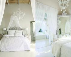 Ontspanne en romanties in wit