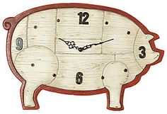 Pig Clock.  For the kitchen?