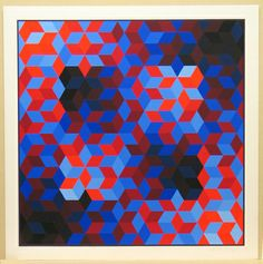 MoMA   The Collection   Victor Vasarely. Hommage to the Hexagon (Hommage À La Hexagone). 1969