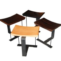 Stools by Pierre Chareau. My favorite!!