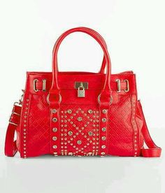 Another studded Symeli purse! Love the red!