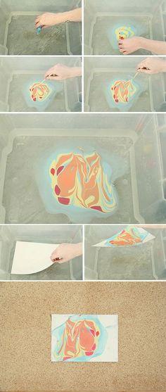 DIY: marbled paper