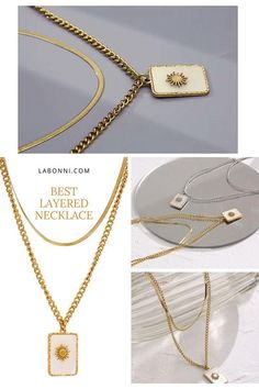 Stainless Steel Square Pendant Necklace Fashion Natural Shell Double Layered Necklace Gold Jewelry for Women -Metals Type: Stainless Steel -Chain Type: Link Chain -Material: Shell -Shape\pattern: Square -Model Number: LA-WN-YH2154A -Electroplate: Real Gold Plated LABONNI.COM Collar Necklace, Gold Necklace, Pendant Necklace, Gold Jewelry, Jewelery, Women Jewelry, Simple Earrings, Women's Earrings, Layered Jewelry